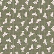 Lewis & Irene A Walk in the Glen - 4875 - West Highland Terriors on Green Check - A159.3 - Cotton Fabric